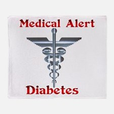 Diabetes Medical Alert Rod of Throw Blanket