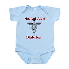 Diabetes Medical Alert Rod of Infant Bodysuit