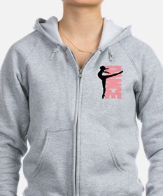 Beautiful Dance Figure Zip Hoodie