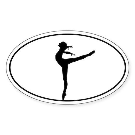 Beautiful Dance Figure Sticker (Oval)