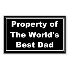 Property of the world's best Sticker (Rectangle)