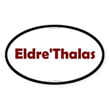 Eldre'Thalas Red Server Oval Decal