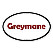 Greymane Red Server Oval Decal
