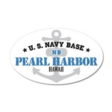 US Navy Pearl Harbor Base 38.5 x 24.5 Oval Wall Pe