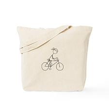 Biking Girl-Black Tote Bag