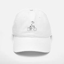 Biking Girl-Black Baseball Baseball Cap