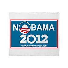 NoBama 2012 No Hope Throw Blanket