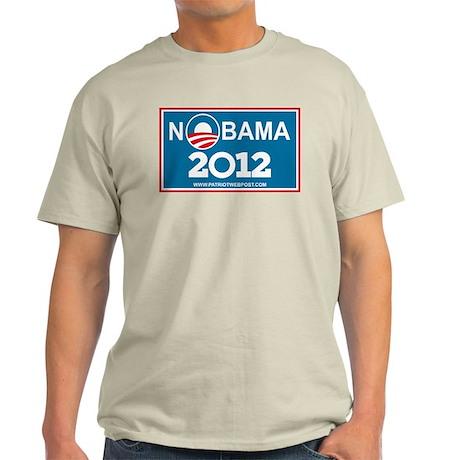 NoBama 2012 No Hope Light T-Shirt