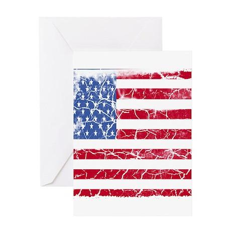 Distressed American Flag Greeting Card