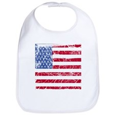 Distressed American Flag Bib