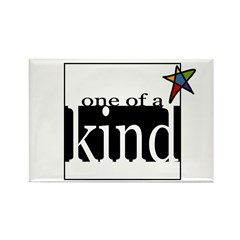 One of a Kind (star) Rectangle Magnet