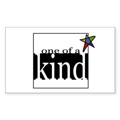 One of a Kind (star) Rectangle Decal
