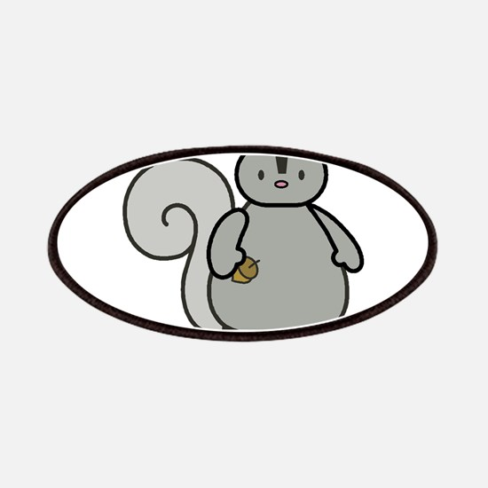 Chubby Funny Gray Squirrel Patches