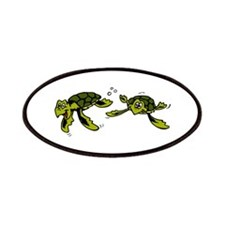 Baby Sea Turtles Swimming Patches