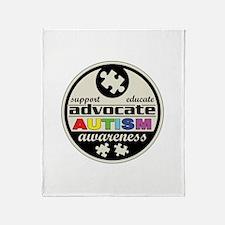Advocate Autism Awareness Throw Blanket