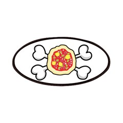 Funny Pizza & Crossbones Desi Patches
