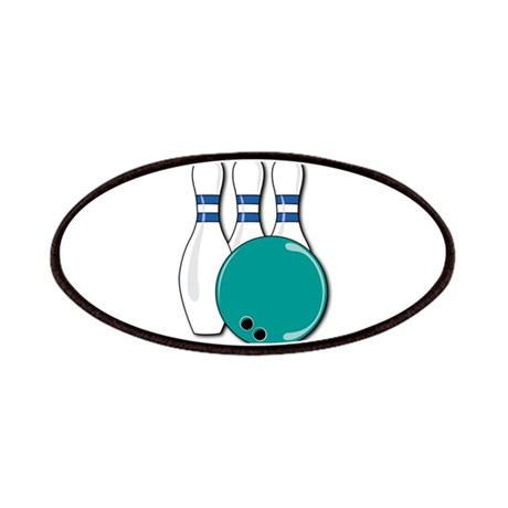 Bowling Ball and Pins Patches