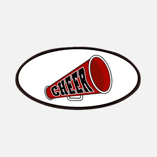 Red Cheer Megaphone Patches