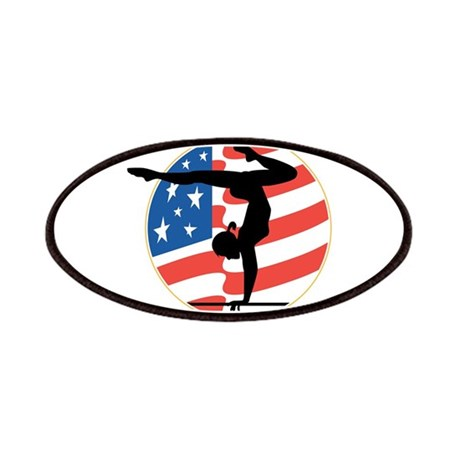 USA Stars and Stripes Gymnast Patches