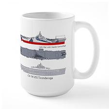USS Ticonderog CV-14 Mug