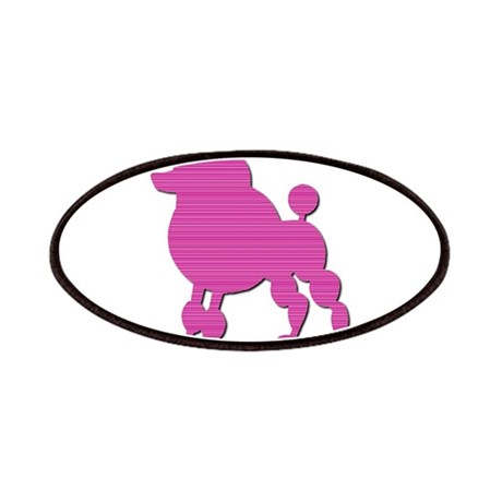 Retro Pink Poodle Patches