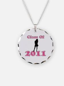 Cute 2011 graduation Necklace Circle Charm