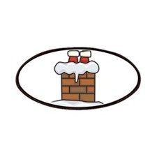 Santa Stuck in Chimney Patches