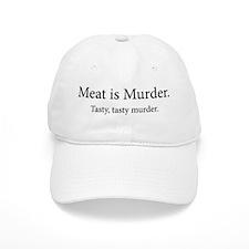 Meat Is Murder Tasty Tasty Murder Baseball Cap