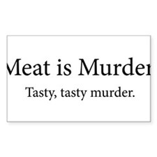 Meat Is Murder Tasty Tasty Murder Decal