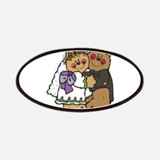Country Style Bride and Groom Patches