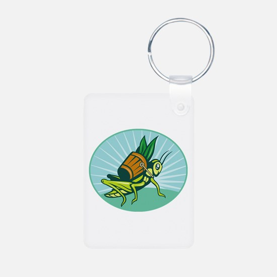 Grasshopper carrying basket Keychains