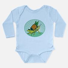 Grasshopper carrying basket Long Sleeve Infant Bod