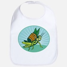 Grasshopper carrying basket Bib