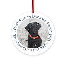 Black Labrador Retriever Big Ornament (Round)