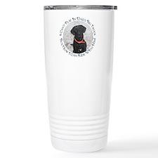 Black Labrador Retriever Big Travel Mug