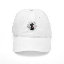 Black Labrador Retriever Big Baseball Cap