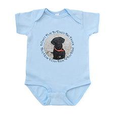 Black Labrador Retriever Big Infant Bodysuit