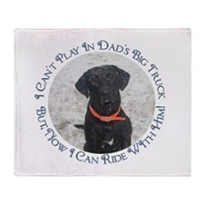 Black Labrador Retriever Big Throw Blanket