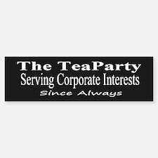 Tea Party Corps-black Bumper Bumper Sticker