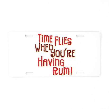 Time Flies - Aluminum License Plate