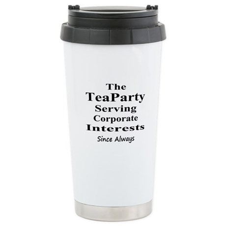 Tea Party Corps-black Stainless Steel Travel Mug