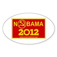 NoBama 2012 Commie Logo Decal