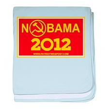 NoBama 2012 Commie Logo baby blanket