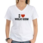I Love Wheat Germ Women's V-Neck T-Shirt