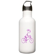 Bicycle Girl- Pink Water Bottle