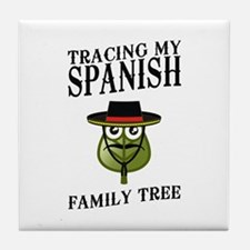 Tracing My Spanish Family Tree Tile Coaster