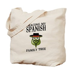 Tracing My Spanish Family Tree Tote Bag