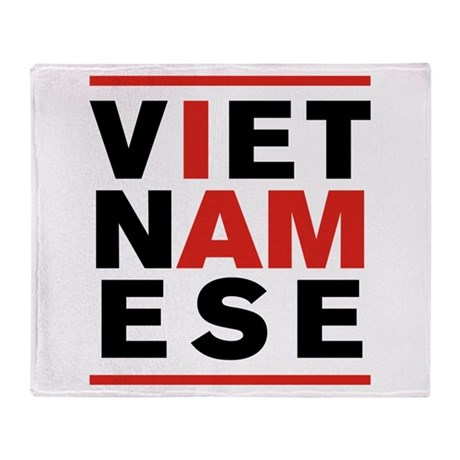 I AM VIETNAMESE Throw Blanket