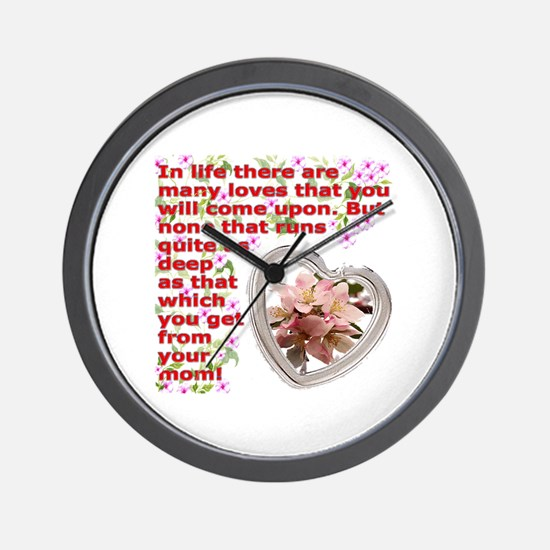 A Mothers day gift Wall Clock