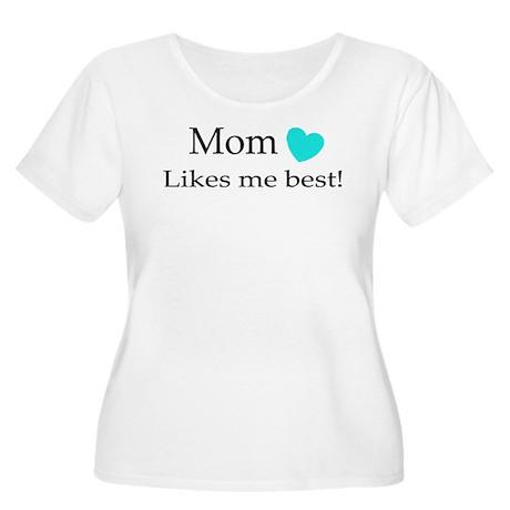 Mom Likes Me Best Women's Plus Size Scoop Neck T-S